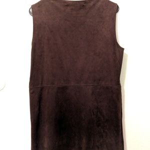 Max Studio Dresses - Max Studio Suede Zip Up Dress